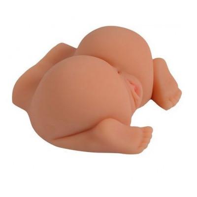 Телесная реалистичная вагина-полуторс SHEQU