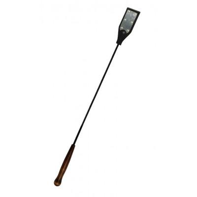 Черный стек с серебристой хлопушкой под металл - 60 см.
