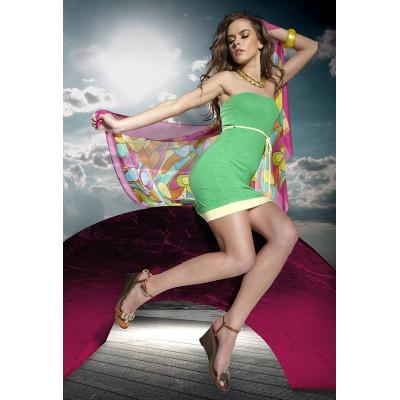 Легкое короткое пляжное платье с поясом