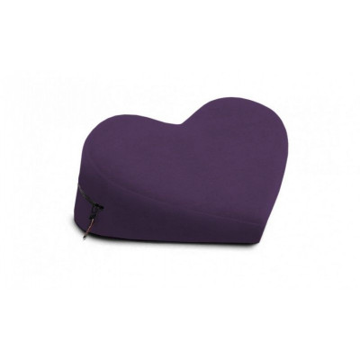 Фиолетовая малая вельветовая подушка-сердце для любви Liberator Retail Heart Wedge