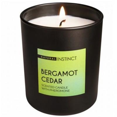 """Ароматическая свеча с феромонами Natural Instinct """"Кедр и бергамот"""" - 180 гр."""