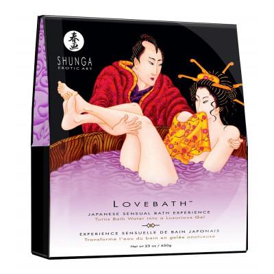 Соль для ванны Lovebath Sensual lotus, превращающая воду в гель - 650 гр.